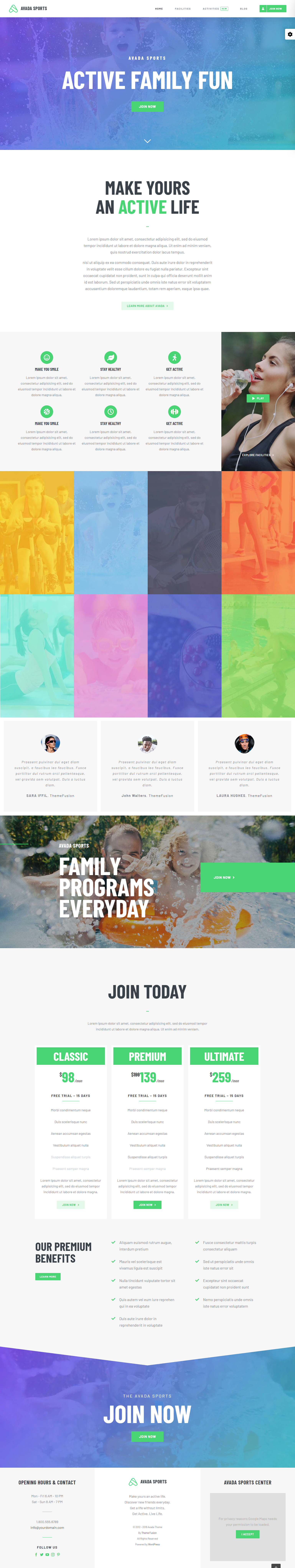 Giao diện Website Landing page Sport - Thiết kế website thể thao